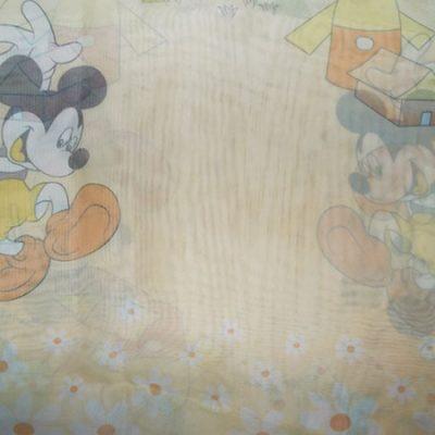 Perde voal galben cu Mickey