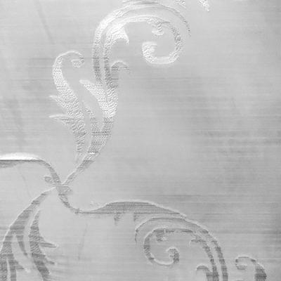 Perdea organza gri cu model argintiu