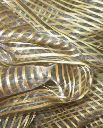 Organza curtain with golden stripes