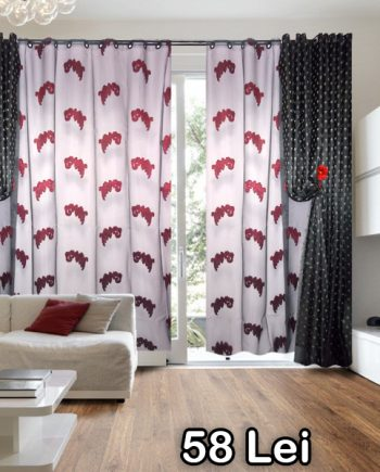 Gray gray organza curtain