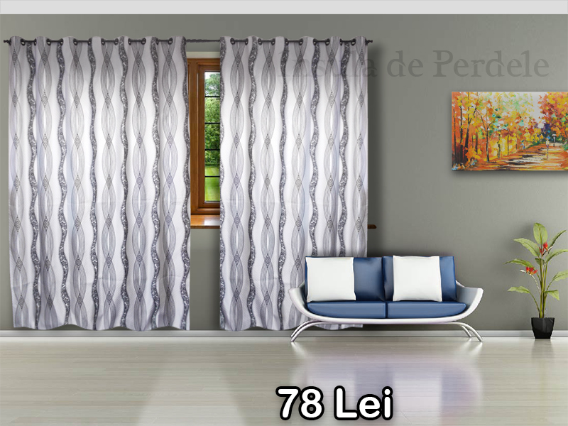 Brown organza curtain with spur