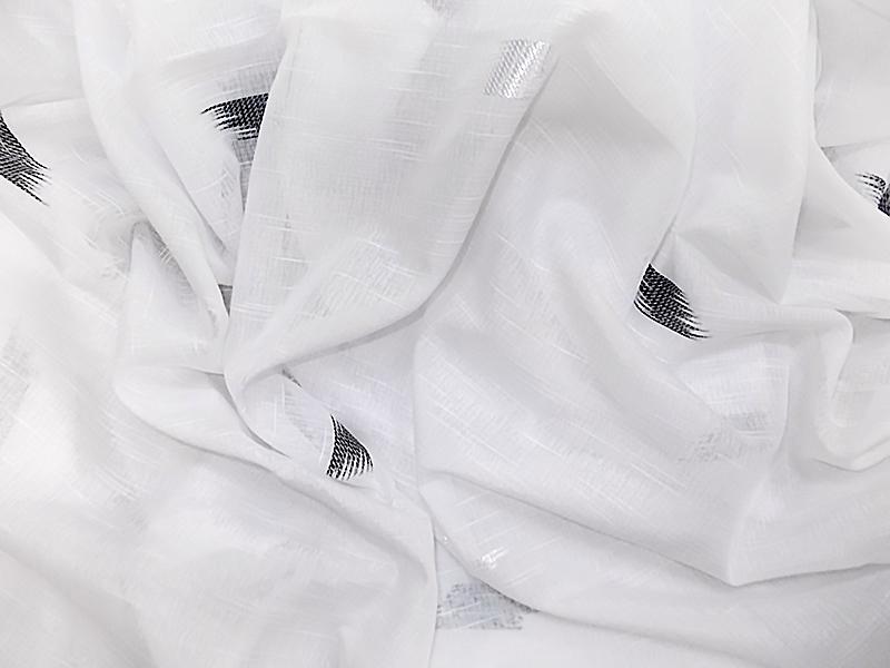 White, white-black curtain