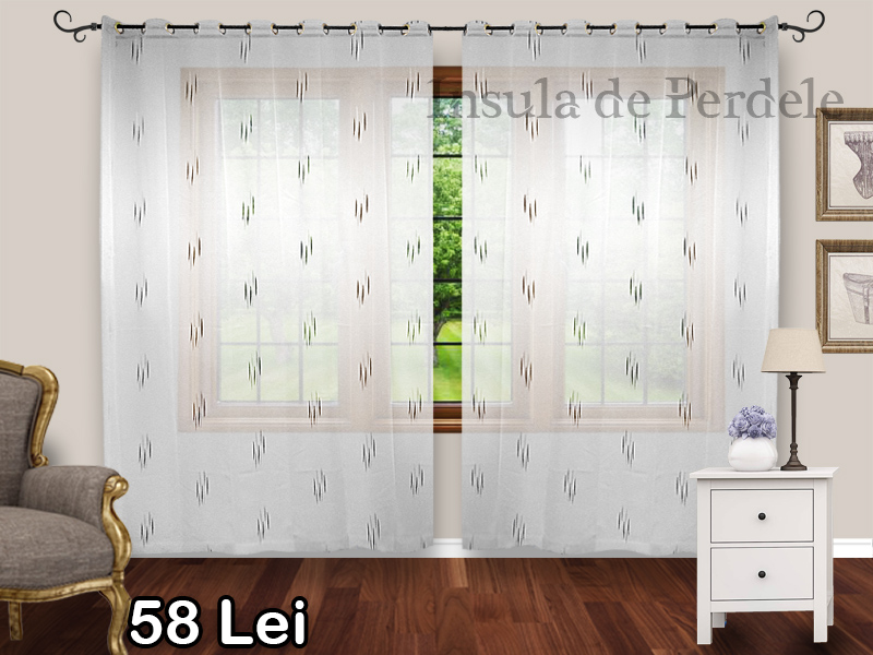 White veil white black curtain