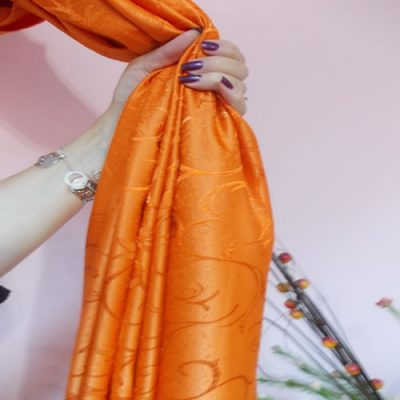 Draperie  portocalie cu model