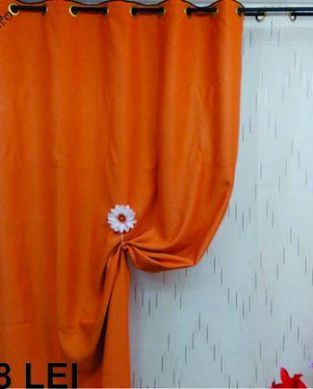 Draperie blackout portocaliu