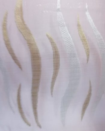 Perdea  organza ivoar cu model auriu