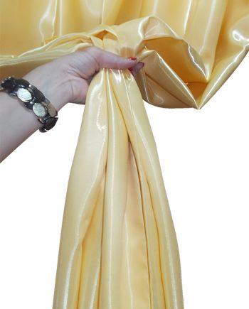 Draperie atlas lucios galben
