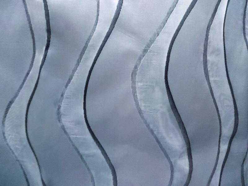 Perdea din tafta gri argintiu