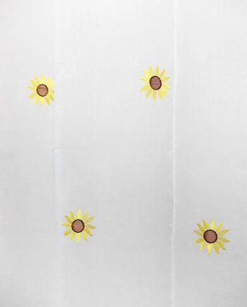 Perdea inisor ivoar cu floarea soarelui