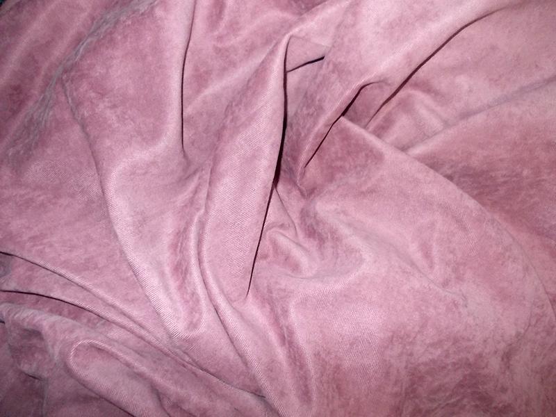 Draperie uni roz catifelat